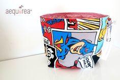 """Cestini di stoffa - Borsa-contenitore Medium Aequorea """"Comics"""" - un prodotto unico di Aequorea su DaWanda"""
