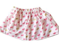 Pink & Gold Bunnies  easter spring skirt by LivRichBoutique  The PERFECT skirt for Easter! It has gorgeous pink and gold bunnies!