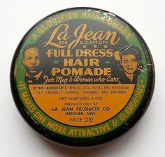 Vintage La Jean Full Dress Hair Pomade Tin Makes You More Attractive & Glamorous