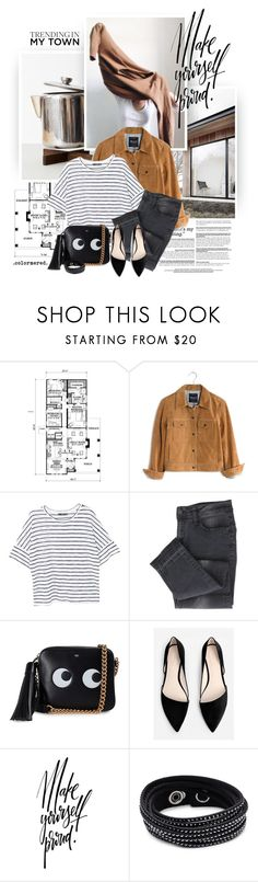 """When We're Young"" by color-me-red ❤ liked on Polyvore featuring Craftsman, Madewell, MANGO, Anya Hindmarch and Swarovski"