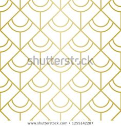 Luxury Geometric Pattern Seamless Vector Lines Stock Vector (Royalty Free) 1255142287 Square Deal, Golden Pattern, Geometric Lines, Background Patterns, Royalty Free Stock Photos, Graphic Design, Luxury, Illustration, Image