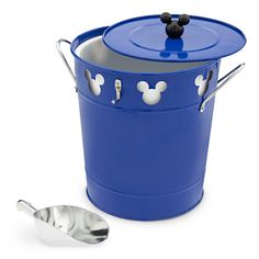 Mickey freshens your fancy all through the sunny season with his brightly colored metal ice bucket, complete with scoop.