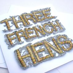 Christmas Card: Three French Hens £4.25