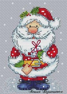 Cute Santa cross stitch (no pattern, just a picture)
