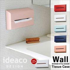 イデアコideaco「Wall(ウォール)」ティッシュケースティッシュカバーティッシュボックスおしゃれ壁掛け北欧収納ホルダーデジスペンサーティッシュペーパーキッチンペーパーデザイン雑貨シンプル