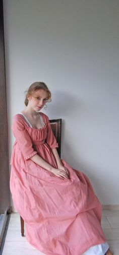 FAIRYTALE FROCKS: Regency pink drop-front