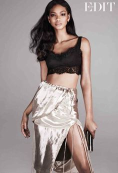 Chanel Iman Stars in The Edit, Calls Beyonce Positive and Uplifting