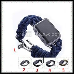 Newest Patent Design Parachute Cord Watch Bands for Apple Watch Strap for Outdoor Sports Activity 2017 - €24.49