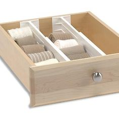 "Bring order to your drawers with our innovative, expanding Dream Drawer Organizers. They are spring-loaded to fit just about any drawer that's at least 4"" deep. They expand from 12"" to 18"". They're perfect for organizing socks and undergarments. They are easily adjustable to create flexible, customized organization as your needs change. For kitchen drawers, try our <a href=""/shop/kitchen/drawerOrganizers/modular?productId=10028015&N=183"">Kitchen Dream Drawer Organizers</a>."