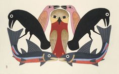In Canada and Greenland the term Eskimo has fallen out of favour, is considered pejorative, and has been replaced by the term Inuit. However, while Inuit describes all of the Eskimo peoples in Canada and Greenland, that is not true in Alaska and Siberia. Arte Inuit, Inuit Art, Native Art, Native American Art, Arte Tribal, Tlingit, Canadian Art, Owl Art, Bird Art