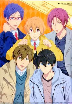 Not a pool in sight! Nagisa Free, Haru And Makoto, Yuri, Rin Matsuoka, Splash Free, Free Eternal Summer, Makoharu, Free Iwatobi Swim Club, Swim Team