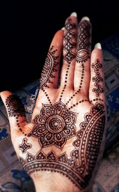 Henna  -I've lived in the middle east for almost 9 years now.. I love henna designs they are beautiful