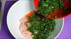 Lumpia, Ground Chicken, Seaweed Salad, Vegetable Dishes, Palak Paneer, Onions, Carrots, Grains, Garlic