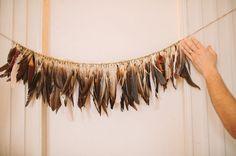 Feather #wedding decorations...so unique! From http://greenweddingshoes.com/missouri-handmade-wedding-amy-christopher/  Photo Credit: http://wearetheparsons.com/