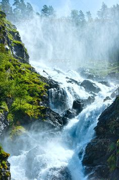 Realistic Graphic DOWNLOAD (.ai, .psd) :: http://jquery-css.de/pinterest-itmid-1007020991i.html ... Summer Latefossen waterfall on mountain slope (Norway). ...  Click here to add keywords, hill, landscape, latefoss, latefossen, mountain, nature, norge, norway, outdoor, rock, season, slope, stream, summer, travel, water, waterfall  ... Realistic Photo Graphic Print Obejct Business Web Elements Illustration Design Templates ... DOWNLOAD :: http://jquery-css.de/pinterest-itmid-1007020991i.html