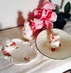 Your place to buy and sell all things handmade Avon, Pink Flowers, My Etsy Shop, Bunny, Dish, Soap, Hand Painted, Bathroom, Ethnic Recipes