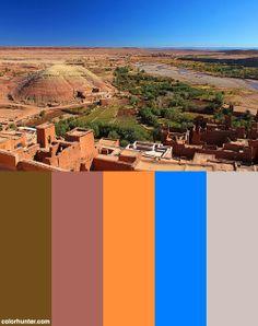 Ouarzazate E O Rio Color Scheme