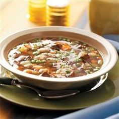 Hearty Beef and Barley Soup Recipe -This hearty barley soup is a favorite menu item in our house throughout the year. Everyone savors the flavor. —Elizabeth Kendall, Carolina Beach, North Carolina