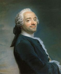 Maurice Quentin de La Tour - Self portrait, 1751 French Rococo painter (1704-1788). Collection Musée de Picardie, Amiens.