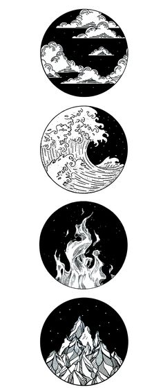 four elemental tattoo - four elemental tattoo - . - four elemental tattoo – four elemental tattoo – - Cool Art Drawings, Pencil Art Drawings, Art Drawings Sketches, Tattoo Sketches, Kunst Tattoos, Body Art Tattoos, Small Tattoos, Tiny Tattoo, How To Draw Tattoos