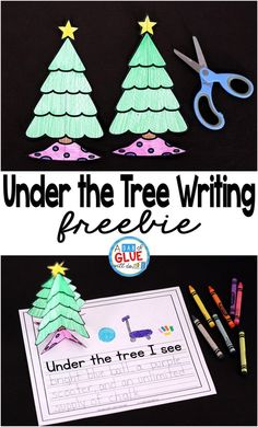 Creative Writing Prompts For Under The Tree at Christmas are ideal for early learners! This printable is a great choice for Kindergarten to Second Grade! #freeprintable #Christmas