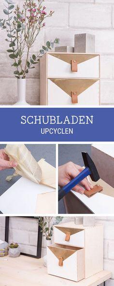 Einfaches Möbel DIY: Schublade In Ein Schreibtisch Utensilo Verwandeln /  Upcycling Diy: