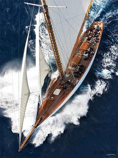 by Guillaume Plisson - sailing Catamaran, Poster Photo, Classy Photography, Classic Wooden Boats, Classic Yachts, Yacht Boat, Sailboat Yacht, Sail Away, Luxury Yachts