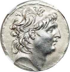 Syria, Seleukid Kingdom. Antiochos VII, Euergetes, 138-129 BC. AR Tetradrachm (16.3 g) Diademed head facing right of Antiochos VII. Athena standing left holding Nike, spear and shield; legends to right and left; all within laurel-wreath. Newell (SMA) 282; cf. Houghton (ANS NAC 4) 264-267. . Estimated Value $300 - 400. #Coins #Ancient #Silver #MADonC