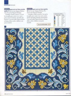 stavrovelonia-nasia: Inspirations for embroidered embroidery. Tapestry Crochet Patterns, Cross Stitch Borders, Chart Design, Needlepoint, Decorative Boxes, Quilts, Embroidery, Rugs, Sewing
