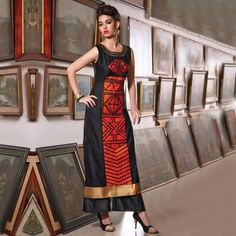 Buy Black Casual Wear Printed Kurti  - New Kurti's Online Shopping at Peachmode