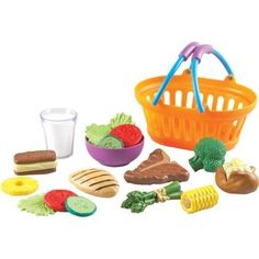 """New Sprouts Dinner Basket 8-1/2"""" x 7"""" x 4"""" Model# LER9732 by Learning Resources -- Awesome products selected by Anna Churchill"""