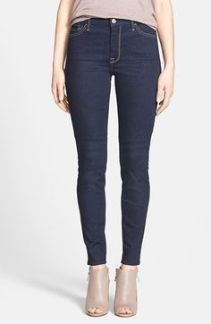 7 For All Mankind® High Rise Skinny Jeans (Rich Dark Rinse) (Nordstrom Exclusive) available at #Nordstrom