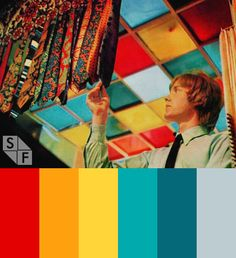 Inspired by 60's pop colors to express a retro fun feeling. Red, orange, blue and yellow. By ShiftFWD.