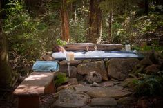Highfield Forest Retreat, Kauri Coast » Canopy Camping -outdoor bath