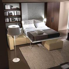 Cubik CS1110 - Milano - Smart living Multipurpose Furniture, Multifunctional Furniture, Smart Furniture, Furniture Ideas, Small Space Living, Tiny Living, Small Spaces, Tree House Designs, Tiny House Design