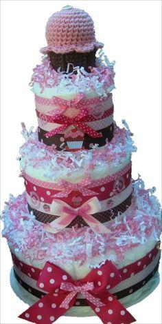 Yummy Cupcake Theme Baby Shower Centerpiece
