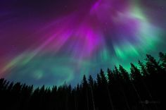 Северное сияние в Финляндии северное сияние, финляндия