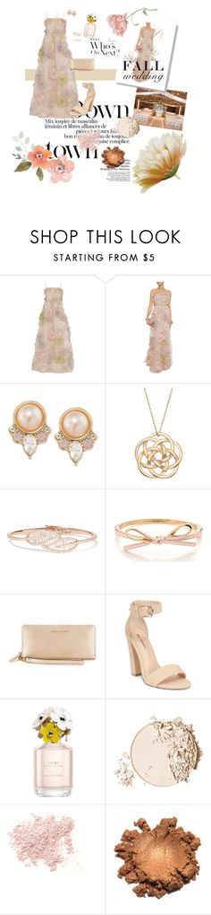 """Wedding in the Fall👰🏼"" by trinitygabriella ❤ liked on Polyvore featuring Valentino, Carolee, Anita Ko, Call it SPRING, Marc Jacobs, Too Faced Cosmetics, Bare Escentuals and fallwedding"