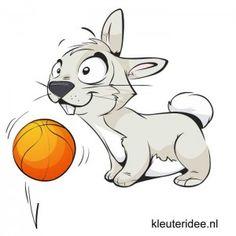 Gymles voor kleuters thema lente 3, kleuteridee.nl , met link naar masker van haas