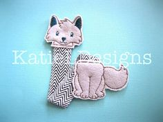 In The Hoop Wolf Bookmark Machine Embroidery Design by KatieLDesigns