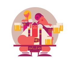Oktoberfest fun! on Behance