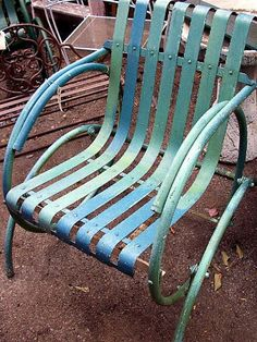 Metal Green Glider like the ones my granny had on her front porch. Id love to find some for mine