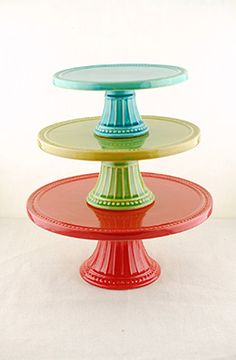 Reyes Cake Stands (Set of 3) --- This is THE place to buy cake stands!