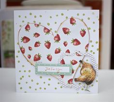 Country Life Just for You Chicken Card   docrafts.com