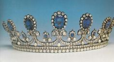 Sapphire, Pearl, & Diamond tiara