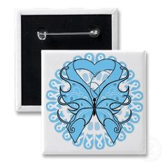 Thyroid Disease Butterfly Circle of Ribbons Pin...would be a great tattoo for those of us fighting.
