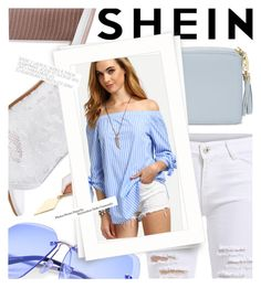 """White Denim for Summer featuring Shein.com"" by cultofsharon ❤ liked on Polyvore"