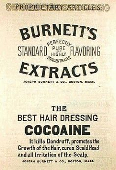 Burnett's Sweet Flavoring Extracts -- the BEST hair dressing -- with soothing, dandruff-killing, growth-promoting COCOAINE
