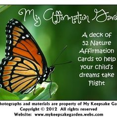 Nature Affirmation Cards for Children with positive messages and nature fun science facts...