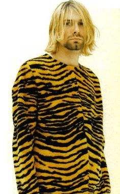 Kurt Cobain in a tiger suit #animalier #tiger #beast - Carefully selected by @Gorgonia www.gorgonia.it